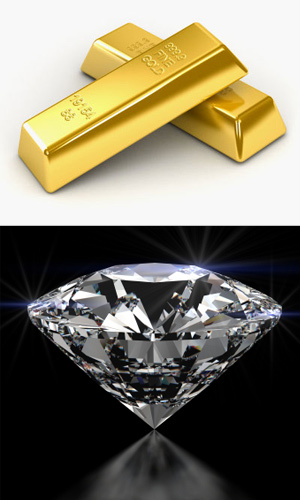 Gold and Diamond